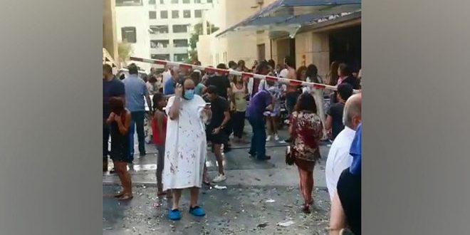 Decenas de víctimas mortales y heridos y colosales daños materiales tras explosión en el puerto de Beirut