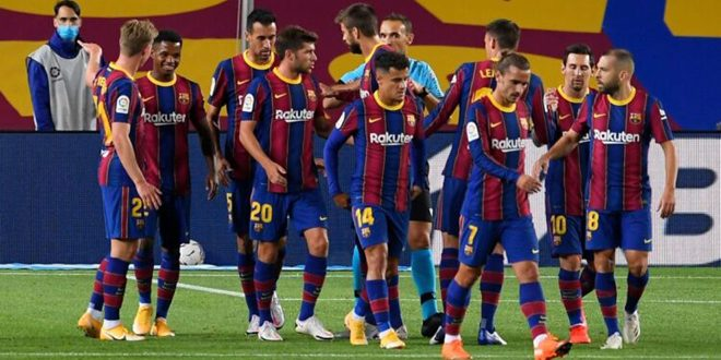 ديون نادي برشلونة تتخطى المليار ومئة مليون يورو