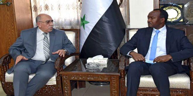 سوریه و سازمان توسعه صنعتی ملل متحد افزایش همکاری برای بازسازی تاسیسات صنعتی را بررسی می کنند