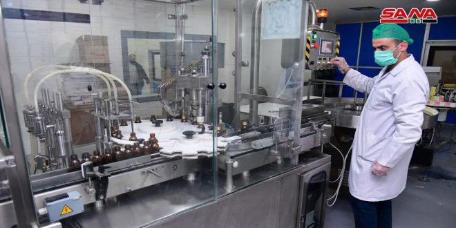 Производство сирийской фармацевтической компании «Тамико» превышает 12 млрд сирийских фунтов