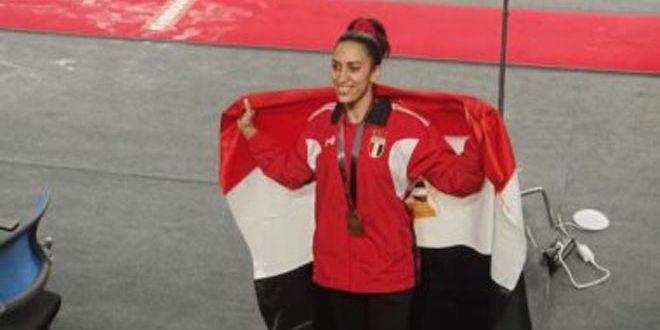 المصرية طمان تحقق إنجازاً جديداً للجمباز في بطولة العالم